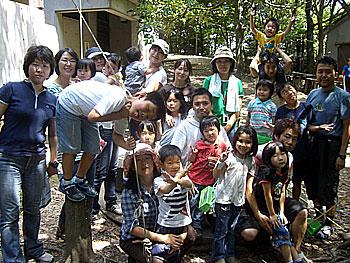 教学の森で子連れアウトドア交流