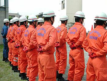 箕面市消防救助隊が救助技術の強化訓練中!