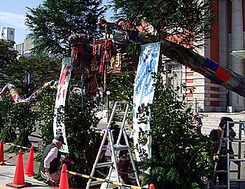 「水都大阪2009」に、箕面の竹の龍が出現!