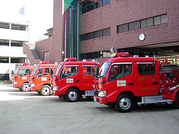 箕面市消防団に新型消防ポンプ車!
