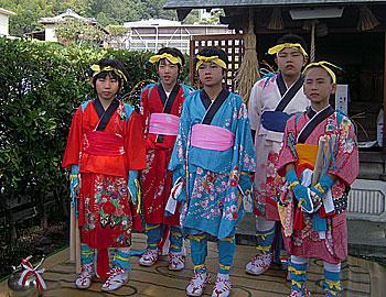 粟生地域の秋祭り