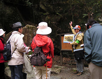 観察会「文学碑に見る箕面の自然」