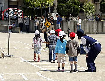 親と子の交通安全教室