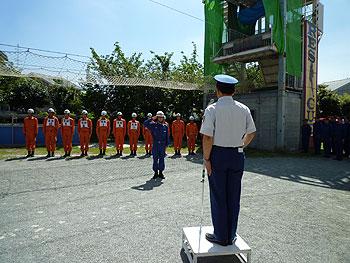 大会に向けて消防長視閲訓練が行われました!