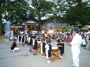 太鼓もバンドも!牧落八幡大神宮の夏祭り!