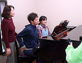学生たちの「Pの音楽隊」練習中!