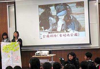萱野小学校6年生の総合学習発表会