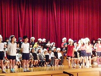 萱野小学校の学習発表会