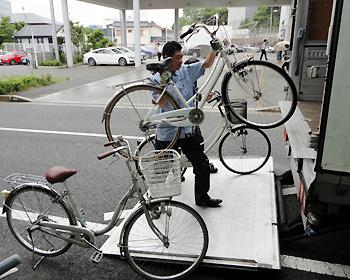 自転車50台を岩手県大槌町へ