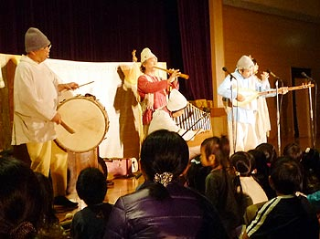 彩都の丘学園「ロバの音楽座」コンサート