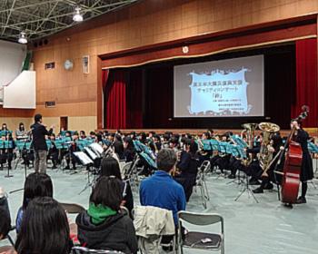 二中と五中の東日本大震災復興チャリティーコンサート
