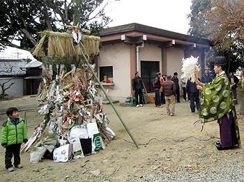 瀬川神社のとんど祭