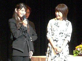 長渕悦子(元女優・志穂美悦子)さん、被災地への思いを語る…箕面市社会福祉大会にて