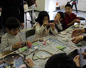 わくわく子ども村でお正月リース作り!