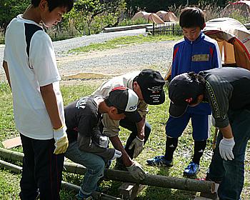 とどろみの森学園の防災キャンプ