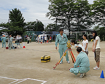 北小学校6年生が測量体験!