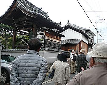 桜井〜牧落地域をタウンウォッチング中