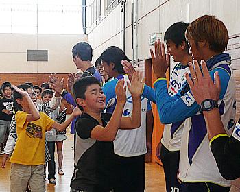 ガンバ大阪の選手がやって来たよ!