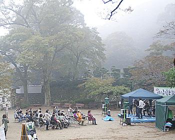霧雨の森で、第13回箕面の森の音楽会開催