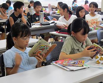夏休み中も学校は子どもたちがいっぱいです!