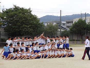 運動会目前!組体操、成功させるぞー!