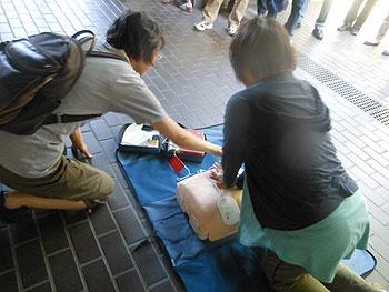 小野原のマンションで防災訓練を実施