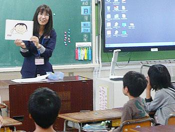 小学校での英語の授業トライアル