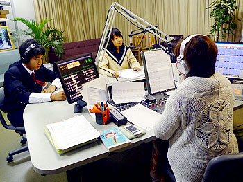 ラジオ局で職場体験!