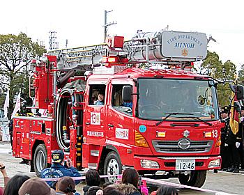日本一早い!箕面市消防出初式