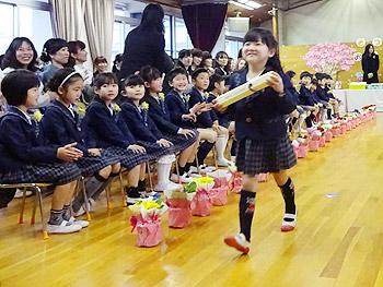 かやの幼稚園の卒園式