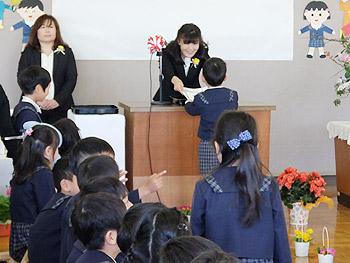 ひがし幼稚園の卒園式