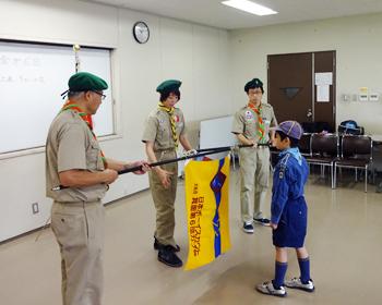 火の用心につとめます!箕面市少年消防クラブ第6団入隊式