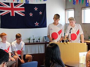 ニュージーランドの中高生が箕面を訪問