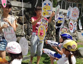 8月の「箕面山七日市」で『思いっきり!外遊びの森開催