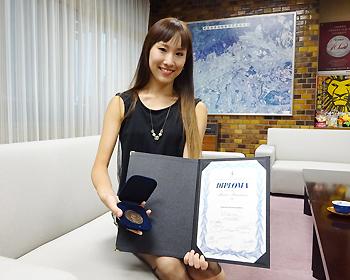 バルナ国際バレエコンクール3位入賞!中島麻美さんに市長表彰