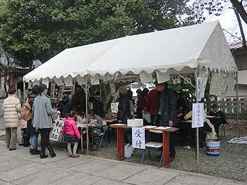 瀬川神社の書き初め大会