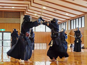 剣道の極寒稽古