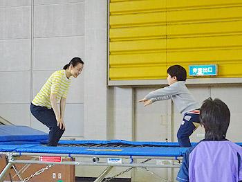 廣田遥さんのトランポリン教室も!…「春のコミスポまつり」