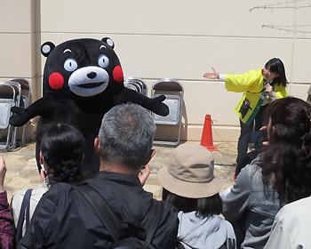 箕面にくまモン!熊本復興支援物産展が開かれました