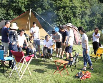 初秋のキャンプは気分最高!