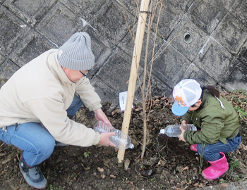 萱野三平を巡る桜の回廊づくり「桜の植樹会」