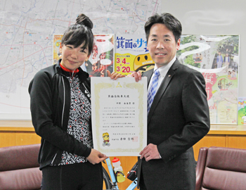 箕面自転車大使に、平野由香里さん!