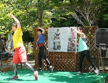 箕面公園で健康ピクニックが開催されました