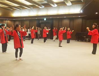 盆踊りの練習、始まってます!