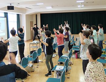 箕面シニア塾「3分間体操de楽しく体力アップ」