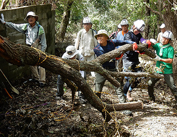 台風被害を受けたハイキングコースを復旧!