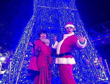 今年でラスト!一夜限りのブルークリスマスツリー
