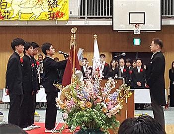 巣立ちの日。中学校の卒業式