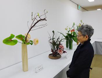 箕面市茶華道文化連盟「いけ花展」