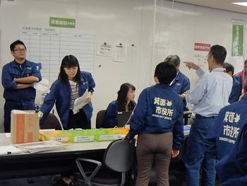 箕面市の防災訓練(地震想定)に参加しました